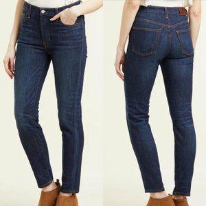 Frye Dark Wash Addie Skinny Mid Rise Denim Jeans